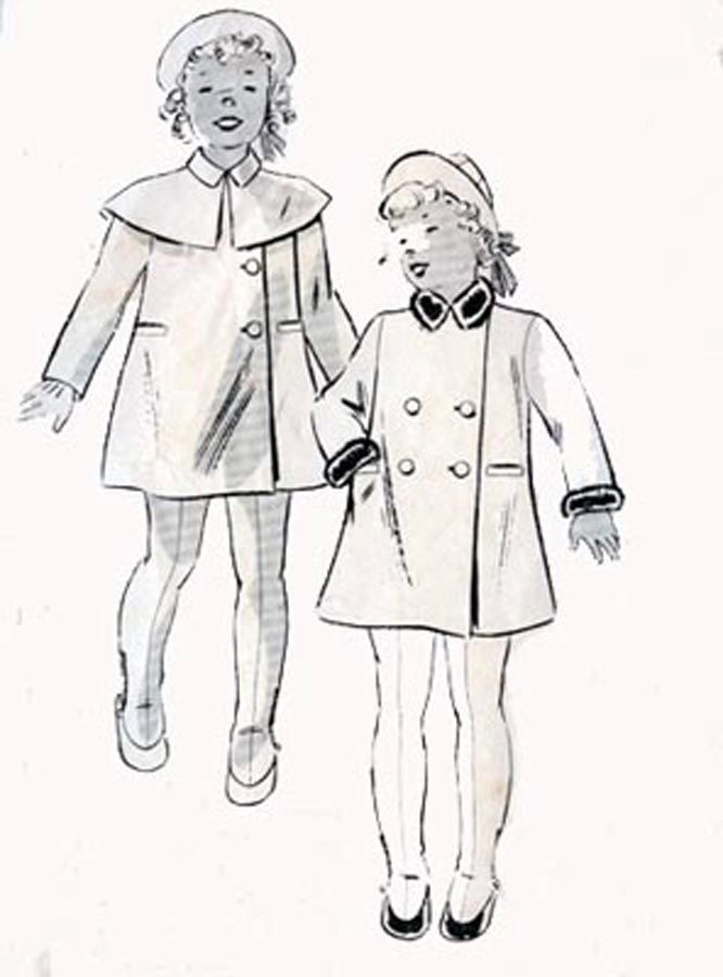 1920s Coat with Cape, Leggings and Hat Butterick 7519