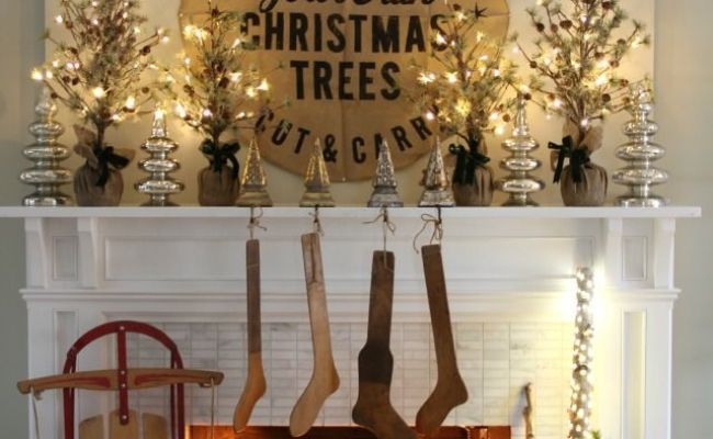 279 Best Images About Christmas Mantel Shelf Wall