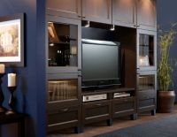 LOVE this IKEA entertainment center!