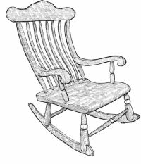 rocking chair drawing - Google Search | 100 Things Drawing ...