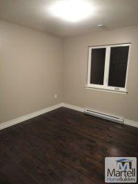 Bedroom, dark hardwood floor