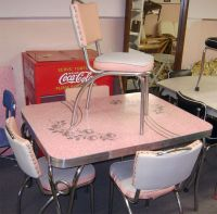 Chrome And Formica Dining Sets | Pink Patterened Formica ...