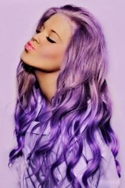 long purple dyed hair