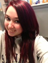 Red hair color idea: Crimson and blood red