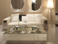 Mesmerizing Mirrored Coffee Table with Glass and Wood ...