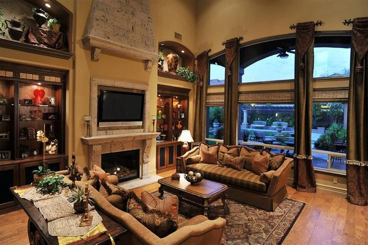 Gorgeous Tuscan Living Room  Room Ideas for the Home  Pinterest  Fireplaces Style and