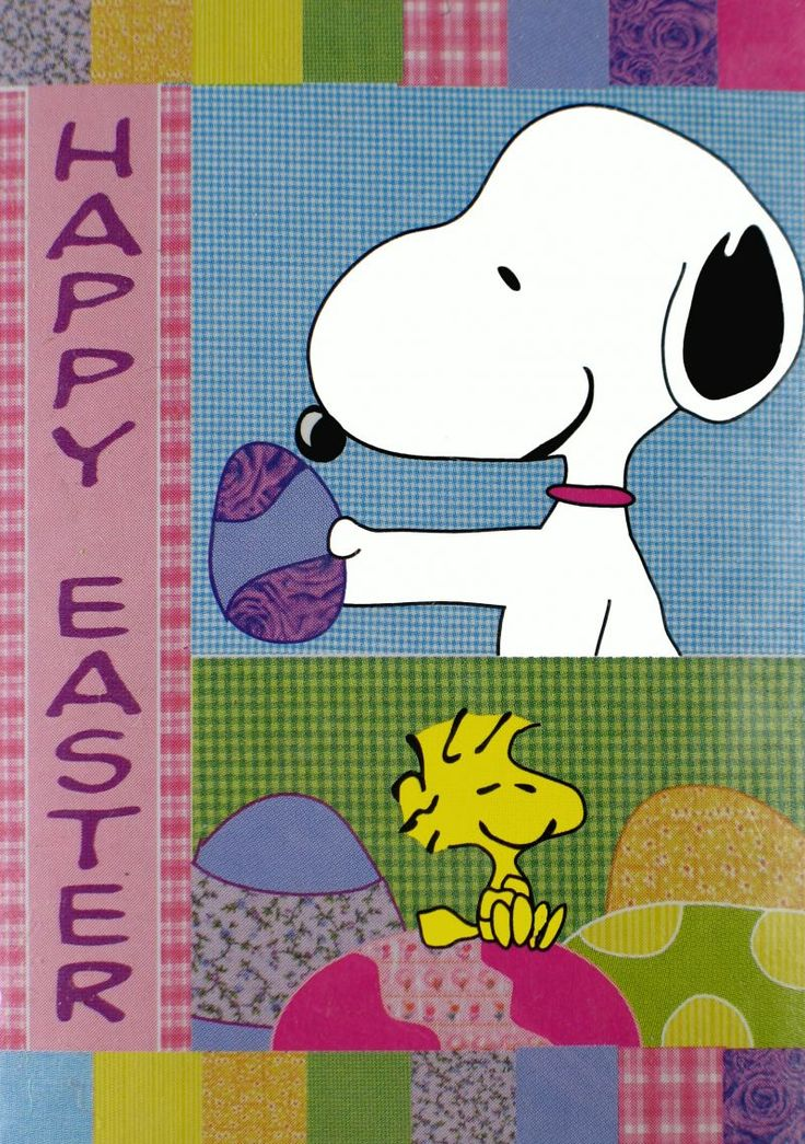 Snoopy Easter Bunny Cartoon