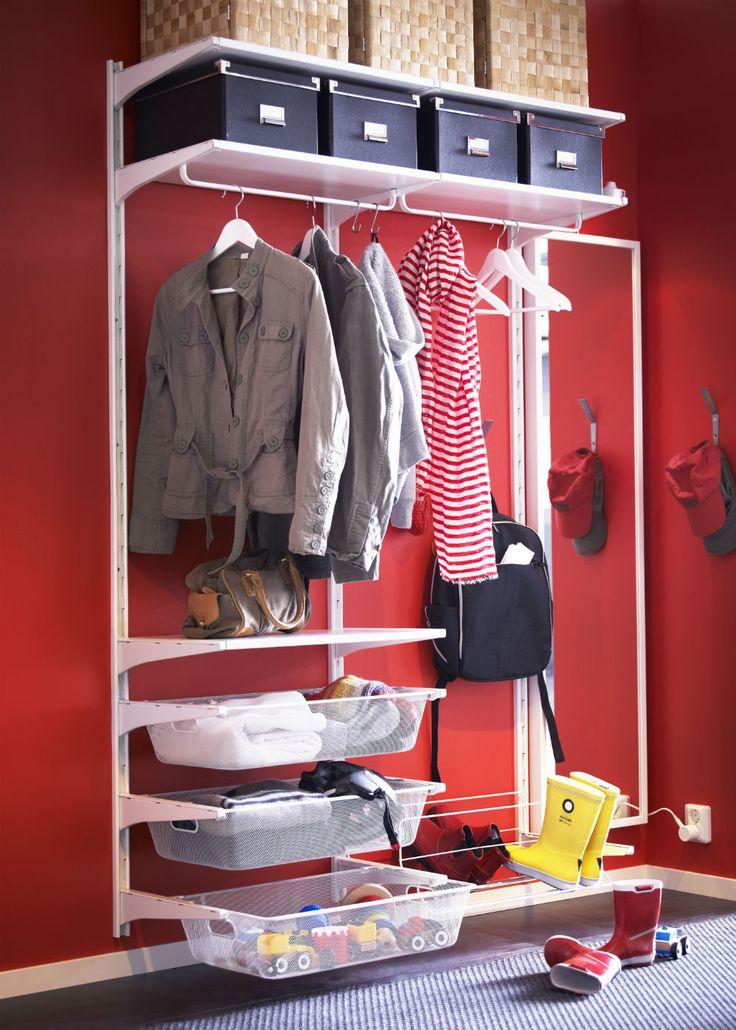 IKEA ALGOT hallway storage  Laundry Room  Pinterest