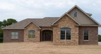 Classic brick ranch house plan with full basement. The ...