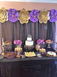 Gold, Purple and Black Birthday Party Ideas | Birthdays ...