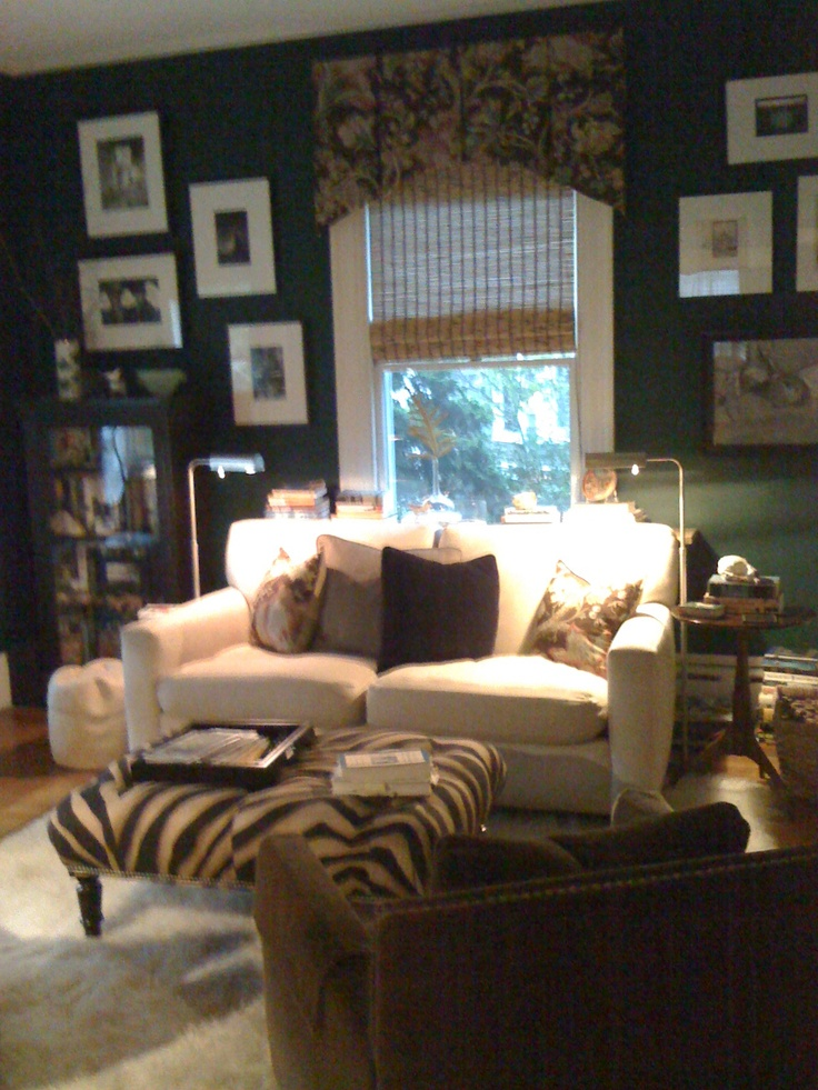 living room with black leather sofa ideas used front 5th wheels cozy den, county street. | design projects pinterest ...