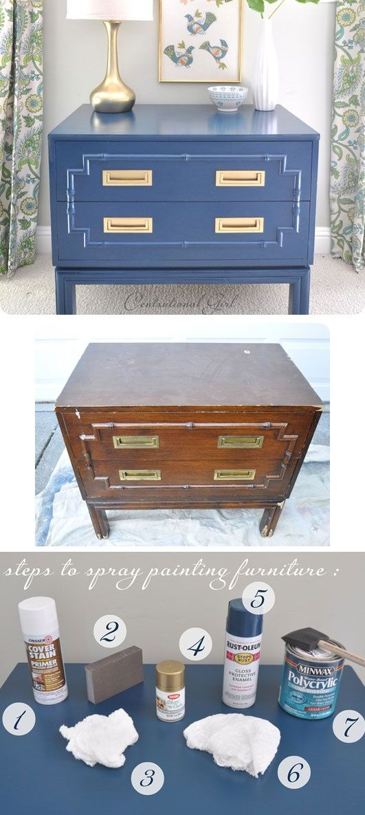 DIY – Spray Painting Furniture – Full Step-by-Step Tutorial with lots of tips and information to achieve a perfect, smooth finish.