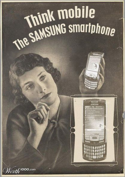 Samsung smartphone vintage ads