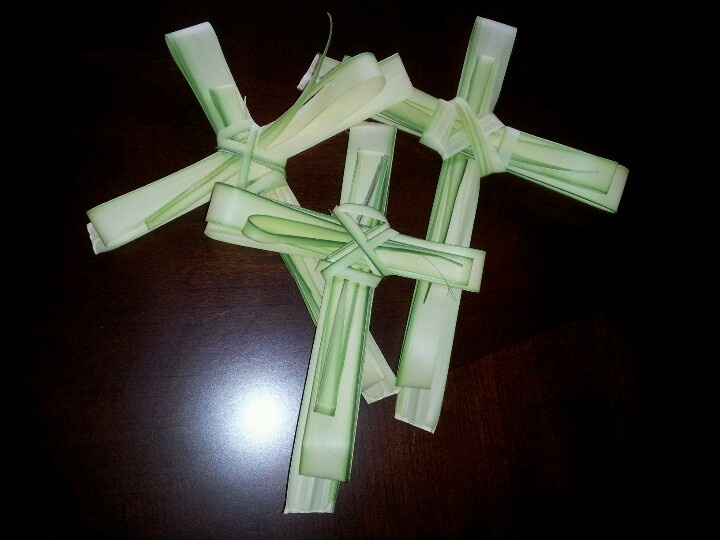 Crosses made from palms easter pinterest palms and