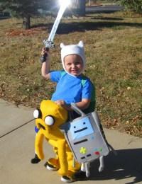 DIY Adventure Time costume - Finn, Jake, and BMO ...