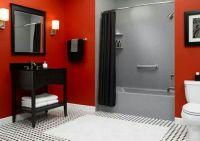 Red, Black, Gray & White. | Bathroom Decor | Pinterest ...