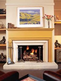 1000+ images about Painted fireplace mantels on Pinterest