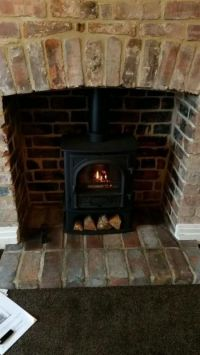 11 best images about log burners & exposed brick on Pinterest