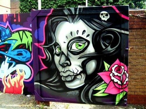 Zombie Girl Graffiti.