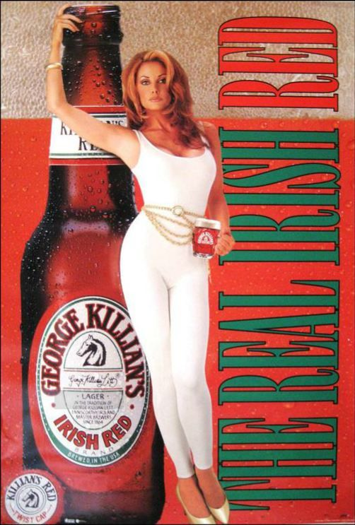 George Killians Irish Red Poster  The Real Irish Red  George Killians Irish Beer  Pinterest