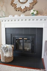 Fireplace tile (mini) facelift with Paint # ...