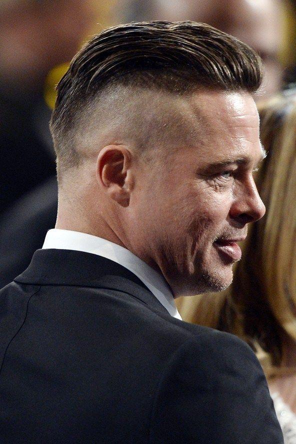 Brad Pitt Fury Hairstyle  GlamorHairstylescom  Undercut  Pinterest  Brad Pitt Haircuts and