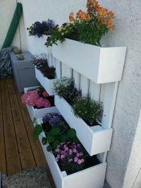 Blumenksten aus paletten | garten | Pinterest