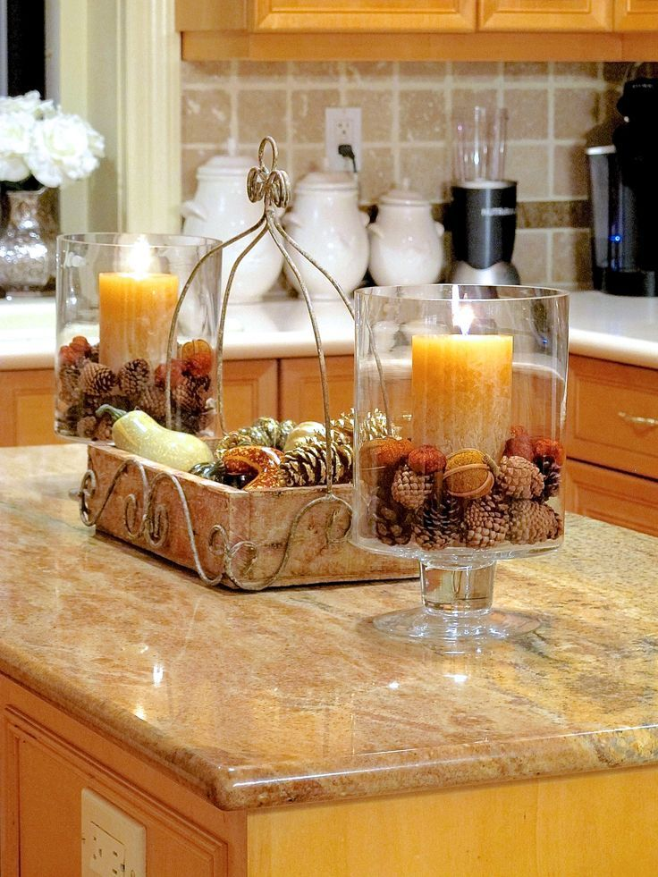 Fall Room Decor 6 Ways to Add Autumn Warmth to Your Kitchen  So cute Countertops and I love