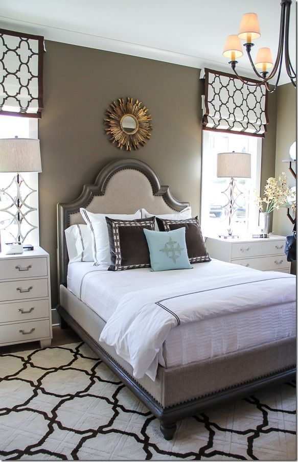 What do you think of the latest in Master Bedroom trends? Cozy with bold geometric prints.