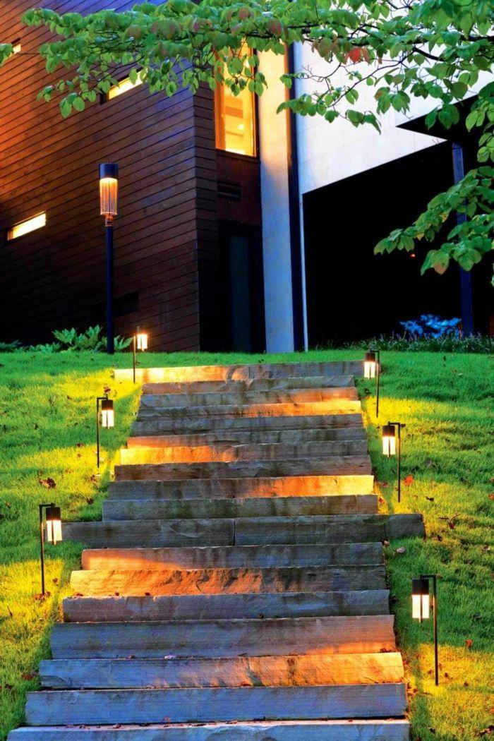 gaerten bilder gartenbeleuchtung modern l - terrasseenbois, Garten dekoo