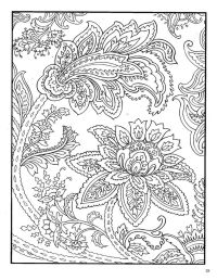 Dover Paisley Designs Coloring Book | coloring pages ...