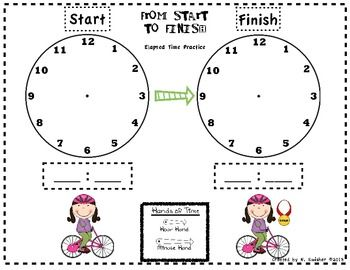 FREE Elapsed Time Practice: From Start to Finish....Follow