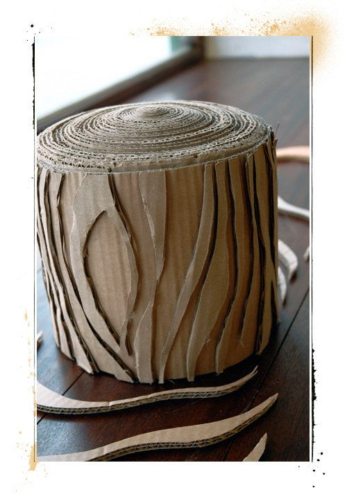 cardboard tree stump  Stage Set  Prop Ideas  Pinterest