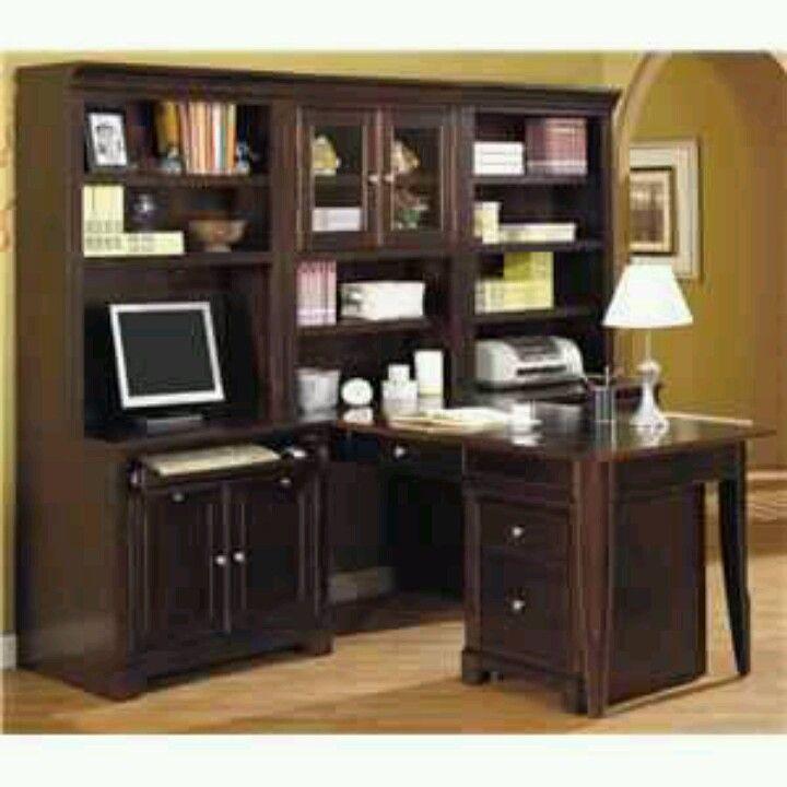 T shaped desk  Office  Pinterest  Desks