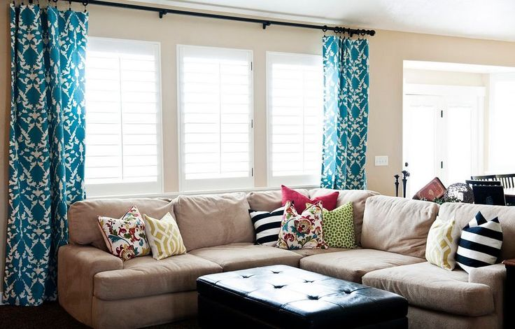 shutters and curtains living room