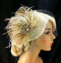 Feather Fascinator, Bridal Fascinator, Feather Fascinator ...