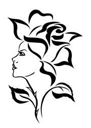 ideas rose stencil