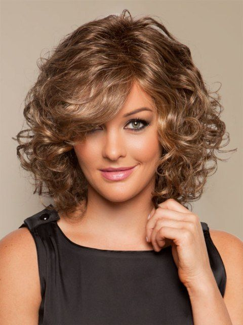 25 Best Ideas About Medium Length Curly Hairstyles On Pinterest