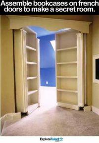 25+ best ideas about Hidden Closet on Pinterest   Closet ...