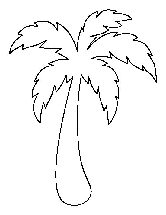 Palm tree pattern. Use the printable outline for crafts