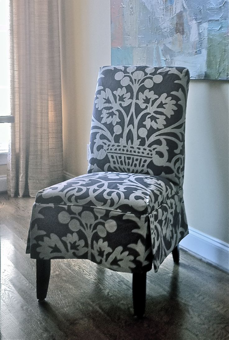 Slipcovered Parsons Chair Design By Elisha Howell