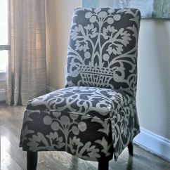 Slip Cover Chairs Patio Sling Chair Replacement Slipcovered Parson's Chair, Design By Elisha Howell, Fabrication Camille Moore Window ...