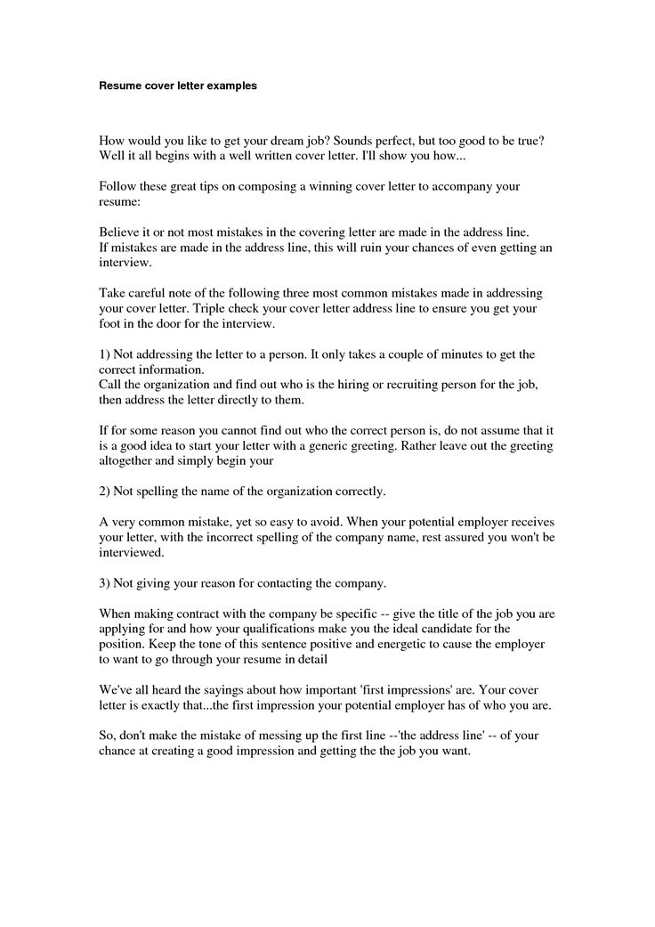 example of a great cover letter for resume template - Cover Letter For Job Example