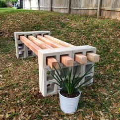 Rope Chair Swing Patio Dining Cushions Diy Cinder Block Bench Project. 12 Blocks And 4 4