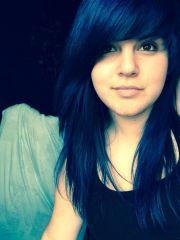 dyed hair blue manic