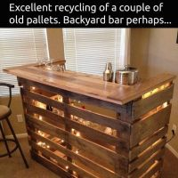 Best 25+ Wood Pallet Bar ideas on Pinterest | Outdoor ...