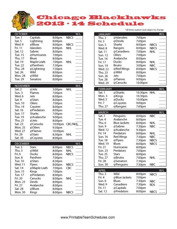 1000+ ideas about Blackhawks Schedule on Pinterest
