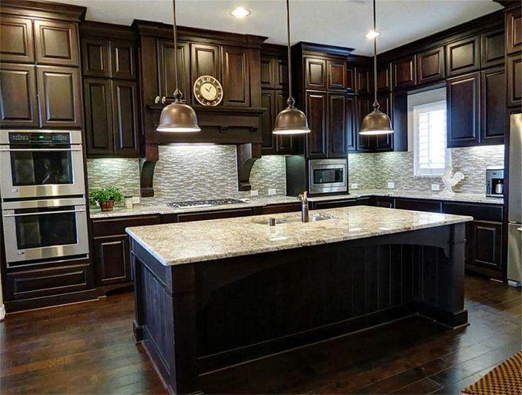 painting dark wood kitchen cabinets white