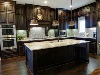 painting dark wood kitchen cabinets white