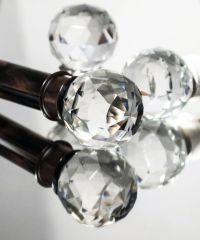 Bronze Curtain Rod With Crystal Finial | Curtain ...